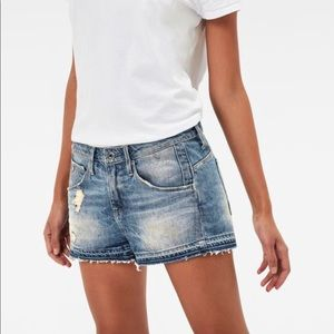 G Star Raw Arc Ripped Boyfriend Shorts for sale